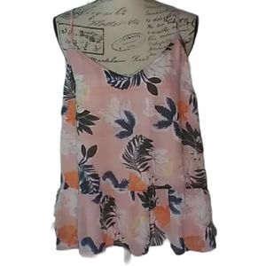 A new day floral print short top